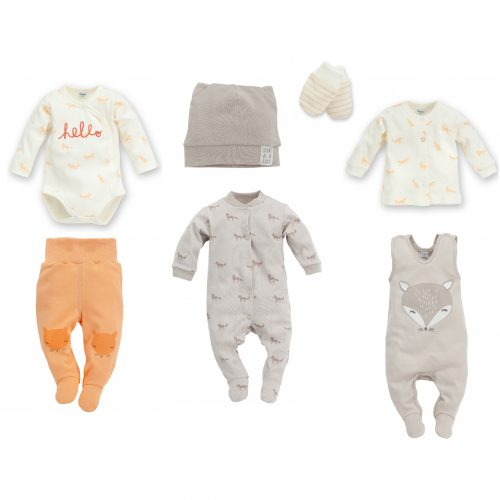 835ba5243 Nyfødt baby sett, Smart Fox, 7 deler, str: 56,62