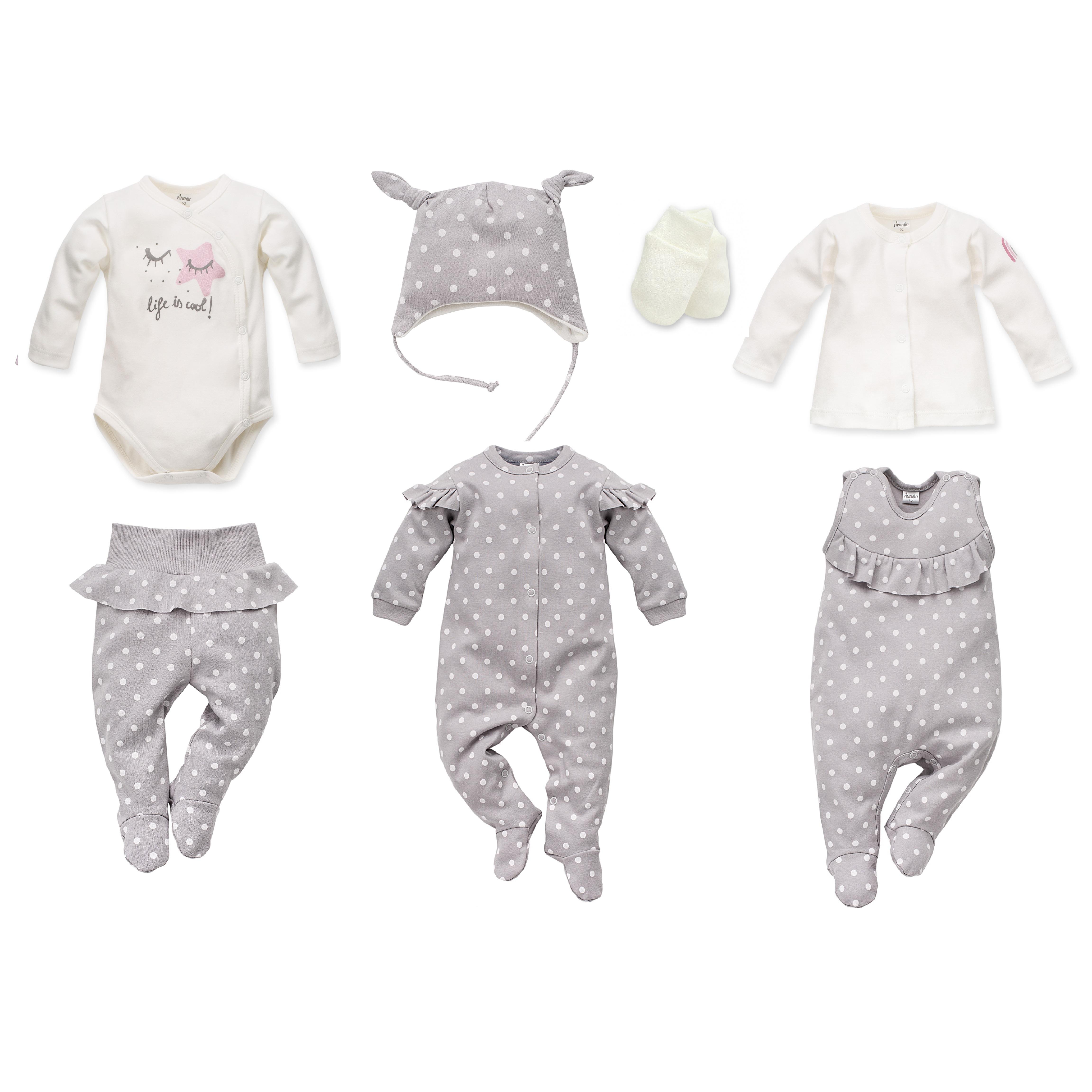 a45ec0b4e83 Nyfødt baby sett, Unicorn, grå, 7 deler, str: 50,56,62 – Little ...
