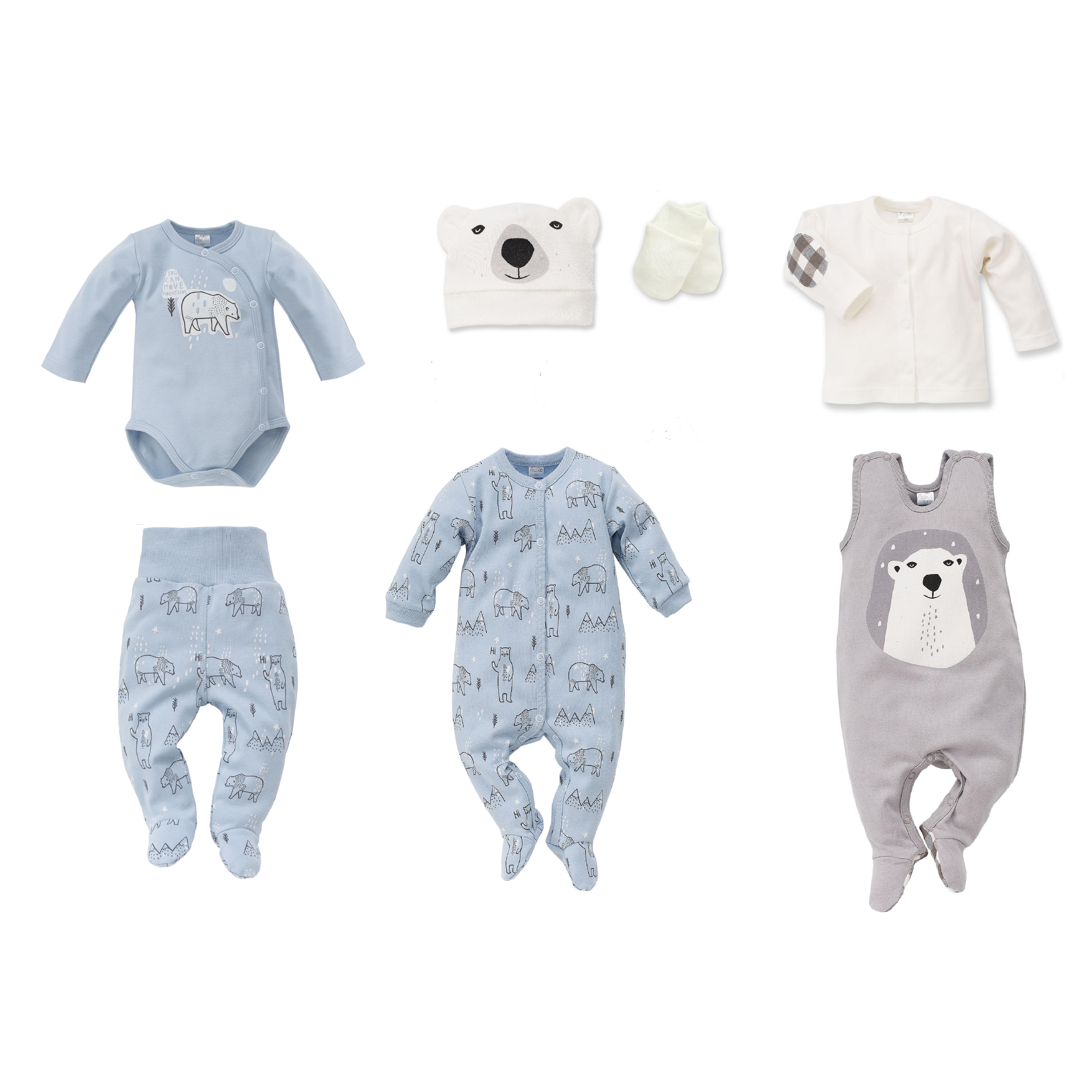 5b0186e88 Nyfødt baby sett North, blå, 7 deler, str: 56,62